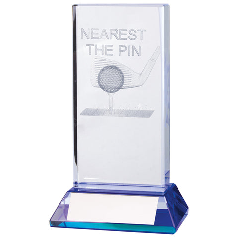 Personalised Engraved Davenport Nearest The Pin Golf Crystal Award Trophy Free Engraving