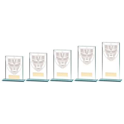 Personalised Engraved Millennium Achievement Glass Award Trophy 5 Sizes Available Free Engraving