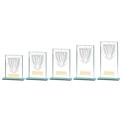 Personalised Engraved Cricket Millennium Glass Trophy 5 Sizes Available Free Engraving