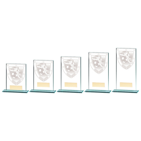 Personalised Engraved Millennium Glass Football Trophy 5 Sizes Available Free Engraving