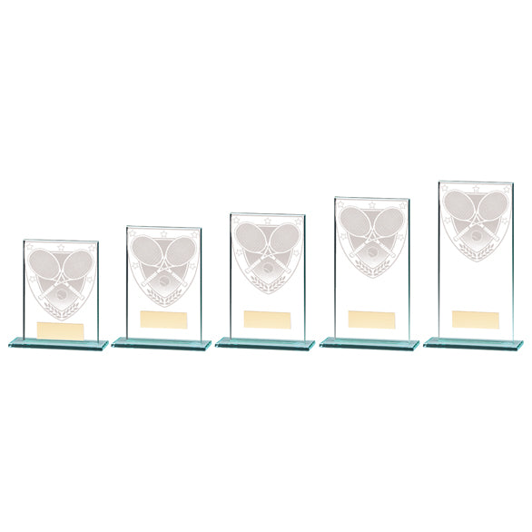 Personalised Engraved Millennium Tennis Glass Award Trophy 5 Sizes Available Free Engraving
