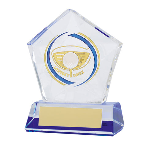 Personalised Engraved Diamond Star Golf Longest Drive Trophy Free Engraving