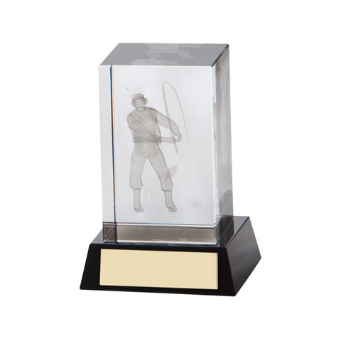 Personalised Engraved Conquest Fishing Crystal Award Trophy Free Engraving