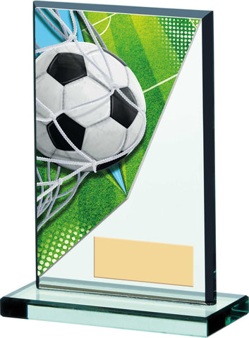 Personalised Engraved Football Glass Trophy 3 Sizes Available Free Engraving