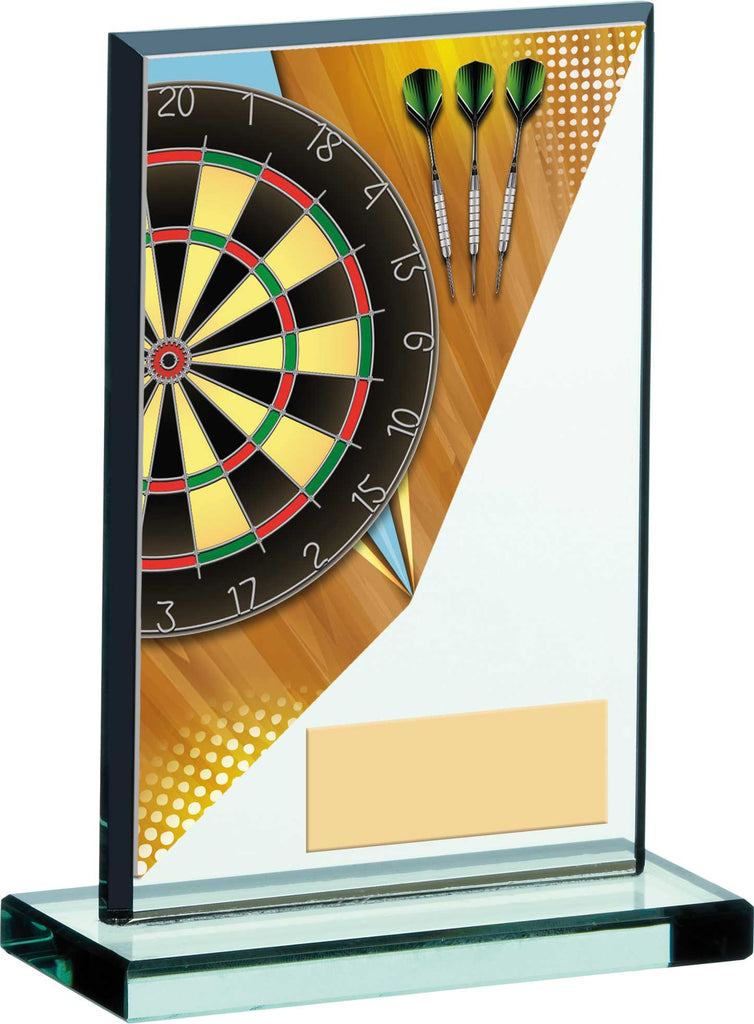 Personalised Engraved Darts Glass Trophy 3 Sizes Available Free Engraving