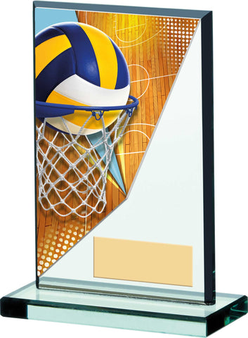 Personalised Engraved Glass Netball Trophy Free Engraving