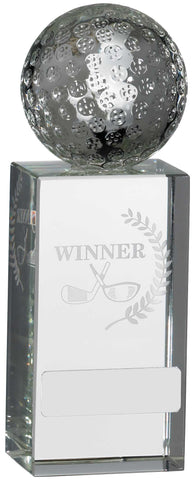 Personalised Engraved Crystal Winner Golf Trophy Free Engraving