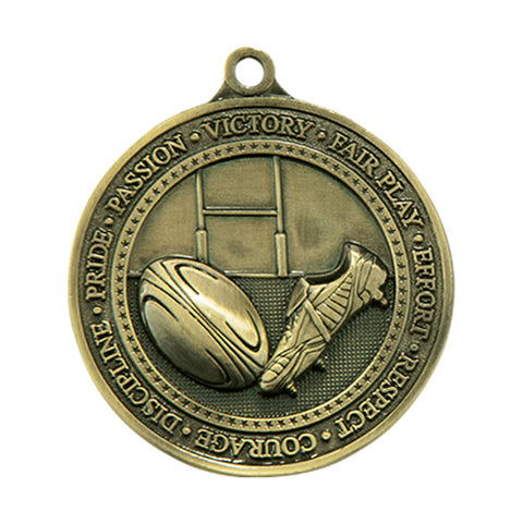 Personalised Engraved Olympia Rugby Medal 60mm Available In 3 Finishes Free Engraving