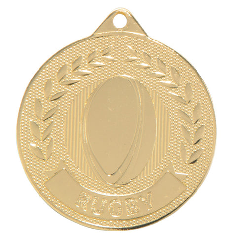 Personalised Engraved Discovery Rugby Medal 50mm Available In 3 Finishes Free Engraving