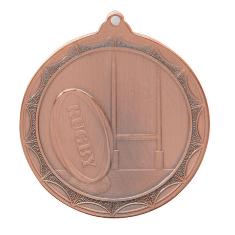 Rugby Medal and Ribbon Trophy