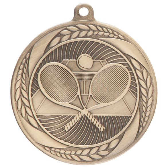 Personalised Engraved Typhoon Tennis Medal 55mm Available In 3 Finishes Free Engraving