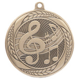 Personalised Engraved Typhoon Music Medal 55mm Available In 3 Finishes Free Engraving