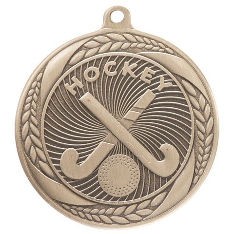 Personalised Engraved Typhoon Hockey Medal 55mm Available In 3 Finishes Free Engraving