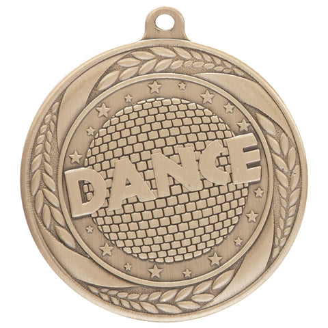 Personalised Engraved Typhoon Dance Medal 55mm Available In 3 Finishes Free Engraving