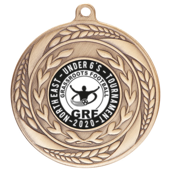 Personalised Engraved Typhoon Medal 55mm Avalable in 3 Finishes Available In Any Sport Free Engraving