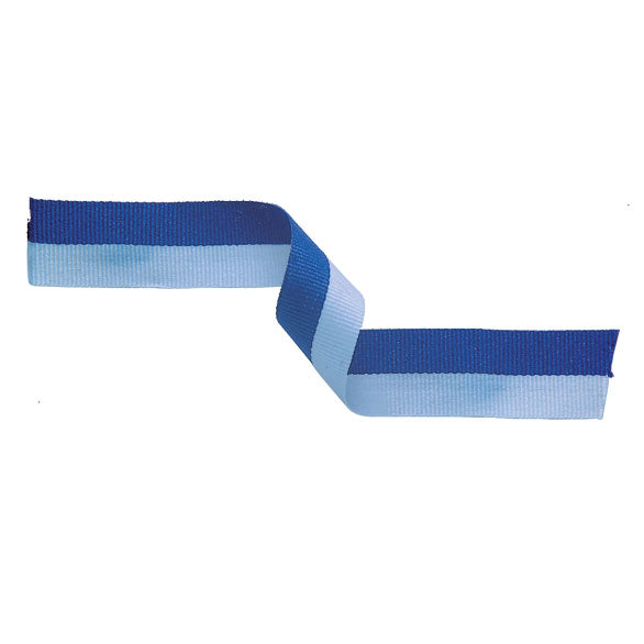 Pack of 10 Medal Ribbon Light Blue & Blue
