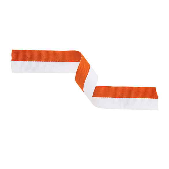 Orange & White Ribbon