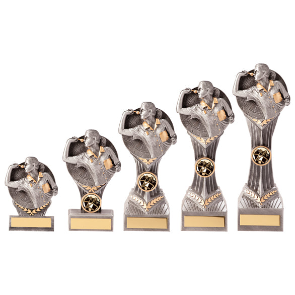 Personalised Engraved Falcon Female Darts Trophy 5 Sizes Available Free Engraving