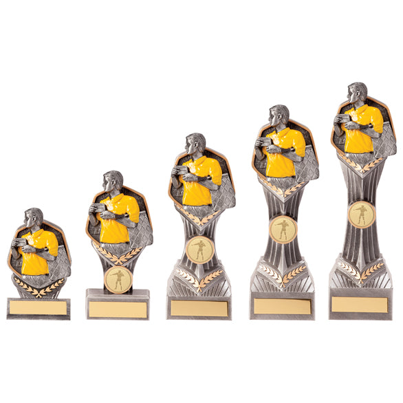 Personalised Engraved Falcon Football Assistant Referee Trophy 5 Sizes Available Free Engraving