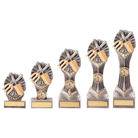 Personalised Engraved Falcon Gardening Trophy 5 Sizes Available Free Engraving
