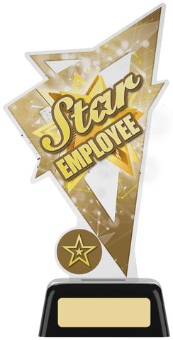 Personalised Engraved Acrylic Star Employee Trophy Free Engraving