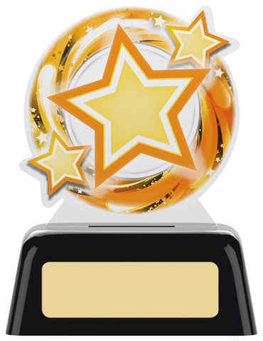 Personalised Engraved Acrylic Star Achievement Trophy 2 Sizes Available Free Engraving
