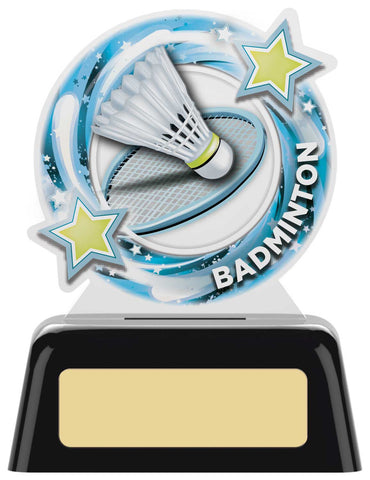 Personalised Engraved Acrylic Badminton Trophy 2 Sizes Available Free Engraving