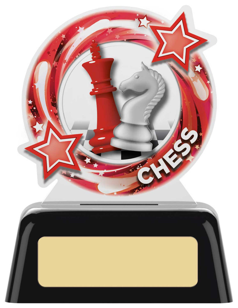 Personalised Engraved Acrylic Chess Trophy Free Engraving