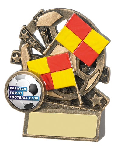 Personalised Engraved Resin Football Assistant Referee Trophy Free Engraving