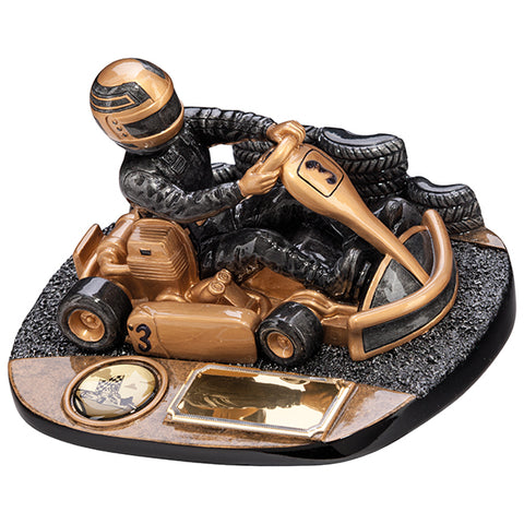 Personalised Engraved Rapid Force Go-Cart Trophy 3 Sizes Available Free Engraving