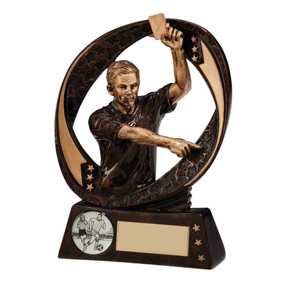 Personalised Engraved Referee Football Trophy Free Engraving