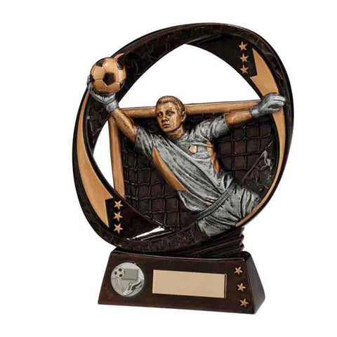 Personalised Engraved Typhoon Football Goalkeeper Trophy Free Engraving