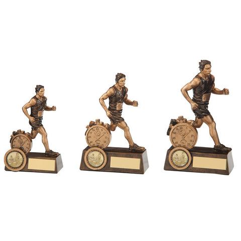 Personalised Engraved Endurance Male Running Trophy 3 Sizes Available Free Engraving