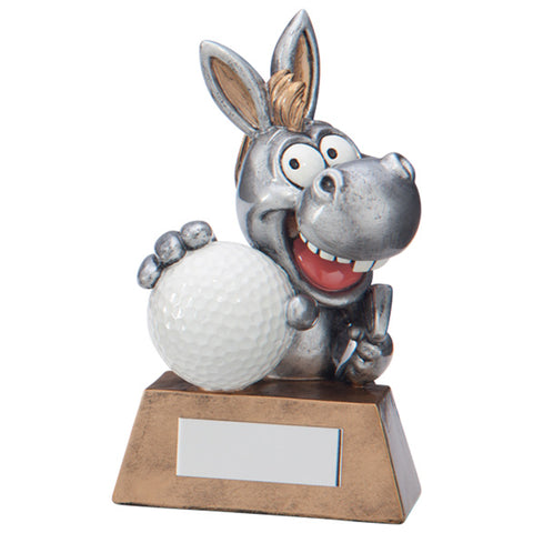 Personalised Engraved What A Donkey Golf Humorous Award Trophy Free Engraving