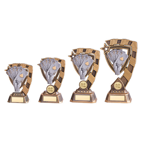 Personalised Engraved Euphoria Poker Trophy 4 Sizes Available Free Engraving