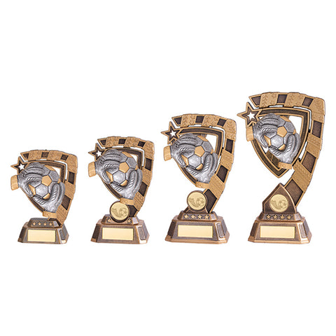 Personalised Engraved Euphoria Football Goalkeeper Trophy 4 Sizes Available Free Engraving