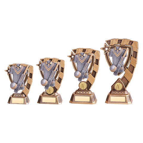 Personalised Engraved Euphoria Cricket Trophy 4 Sizes Available Free Engraving