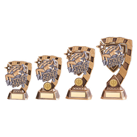 Personalised Engraved Euphoria Female Street Dance Trophy 4 Sizes Available Free Engraving