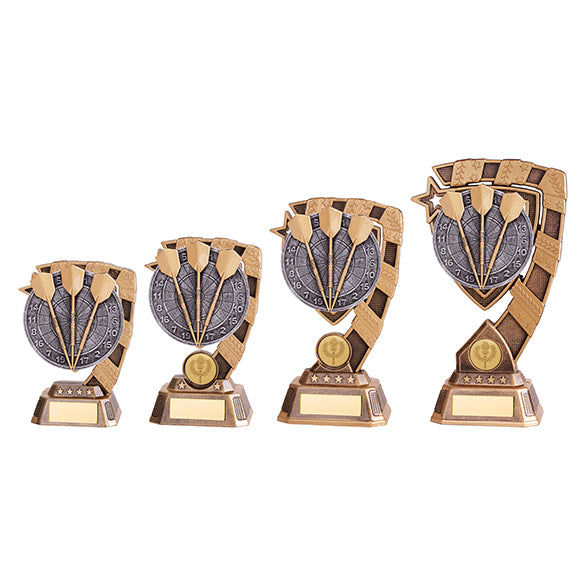 Personalised Engraved Euphoria Darts Trophy 4 Sizes Available Free Engraving