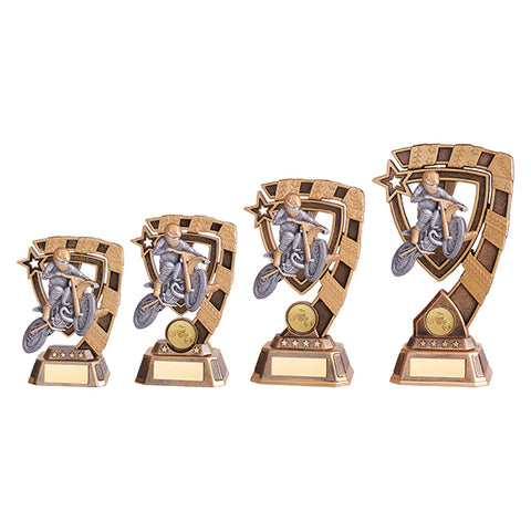 Personalised Engraved Euphoria Motocross Trophy 4 Sizes Available Free Engraving