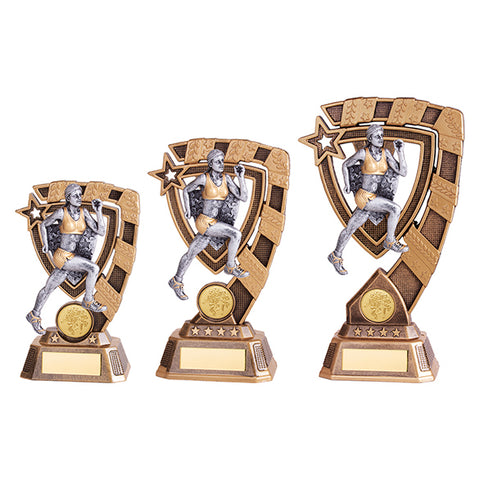 Personalised Engraved Euphoria Female Running Trophy 3 Sizes Available Free Engraving