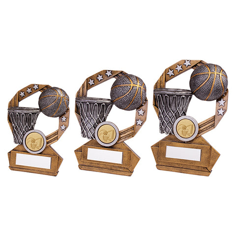 Personalised Engraved Enigma Basketball Trophy 3 Sizes Available Free Engraving