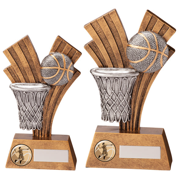 Personalised Engraved Xplode Basketball Trophy 2 Sizes Available Free Engraving