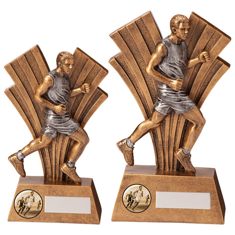 Personalised Engraved Xplode Male Running Trophy 2 Sizes Available Free Engraving