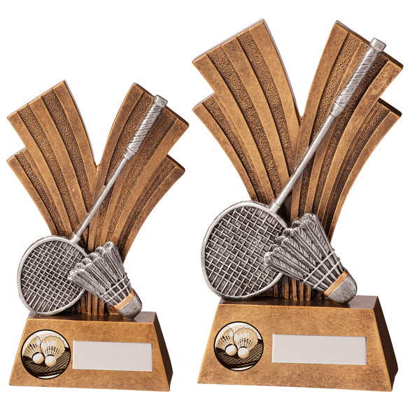 Personalised Engraved Xplode Badminton Trophy 2 Sizes Available Free Engraving