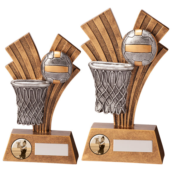 Personalised Engraved Xplode Netball Trophy 2 Sizes Available Free Engraving