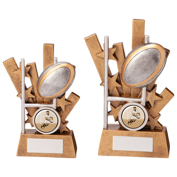 Personalised Engraved Sentry Rugby Trophy 2 Sizes Available Free Engraving