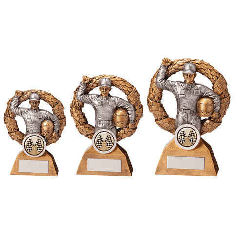 Personalised Engraved Monaco Wreath Motorsport Trophy 3 Sizes Available Free Engraving