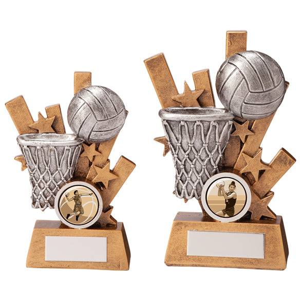 Personalised Engraved Sentry Netball Trophy 2 Sizes Available Free Engraving