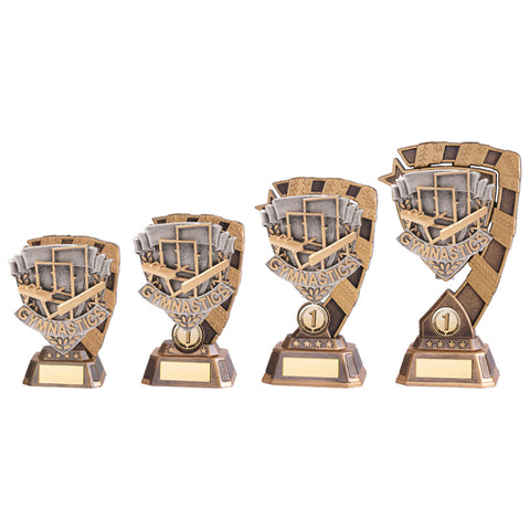 Personalised Engraved Euphoria Gymnastics Trophy 4 Sizes Available Free Engraving